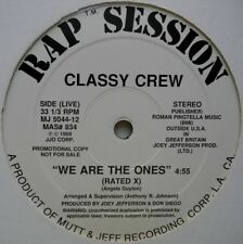 "12"" US**CLASSY CREW - WE ARE THE ONES (RAP SESSION '89 / PROMO)**29309"