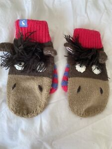 Joules Childrens Horse Mittens Age 5-7.