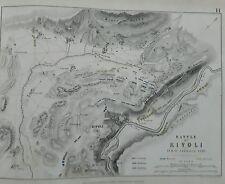 Italy Battle of  Rivoli 1797 - Allison's AK Johnston military Pub1848 M2