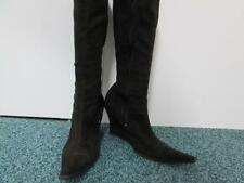 Mujer Invierno Botas de cuña Pantorrilla Marrón Oscuro Uk 3 buen SKU AA829