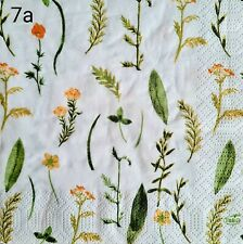 20x Single Table Paper Napkins,Decoupage/Dining/Craft/Vintage/herbs