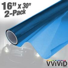 "VViViD Blue Air-Tint Headlight Taillight Vinyl Wrap Decal 16"" x 30"" DIY 2-pack"