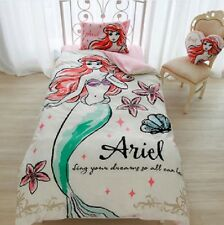 Disney Little Mermaid Ariel Bed Bedding Cover Pillow Sheets Set Single Twin size