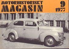Motorhistoriskt Magasin Swedish Car Magazine 9 1977 MHS 040317nonDBE