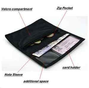 RETRO STYLE FLAT BLACK WALLET STAR DESIGN, EXCELLENT 1ST WALLET