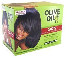 Ors raíces orgánico aceite de oliva relajador de cabello Kit sin lejía Extra Fuerza 4 pelo basto