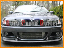 Carbon Fiber AC Style Front Bumper Add on Spoiler Lip FOR 01-06 BMW E46 M3 Only