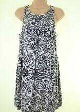 ABERCROMBIE & FITCH grey paisley floral print cut out sun dress size XS UK 8