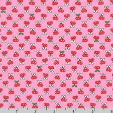 BY YARD-Tiny Happy Lucky Cherry Fabric Robert Kaufman Fabrics ACK-16923-10 Pink