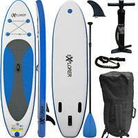 SUP Board EXPLORER Stand Up Paddle Surfboard 2020 aufblasbar Paddel ISUP 300 cm
