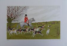 Vincent HADDELSEY : LA CHASSE A COURRE II # LITHOGRAPHIE SIGNEE et N° EQUITATION