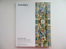 Russian art paintings, works of art Faberge, icons. Sotheby's London 27 nov 2012