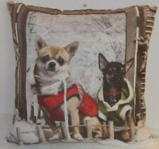 Decorative Cushion with Filling Christmas Dog Winter Nostalgia 40 15 11/16in