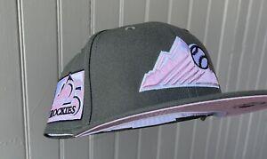 7 1/4 Pink UV New Era Exclusive Colorado Rockies 25th Ann. Hat Club Pink Martini