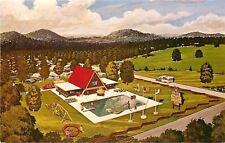 Cartersville GA~KOA Campground~~Aerial View of Swimming Pool~Map 1960 Postcard