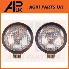 "PAIR Forklift Rubber 5"" Work lights lamp Hyster Crown Toyota Jungheinrich Nissan"