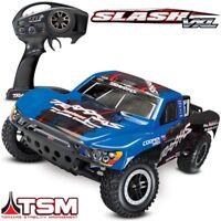 Traxxas Slash VXL Brushless 2WD RTR RC Truck BLUE BODY w/TSM - 58076-4 - FREE SH