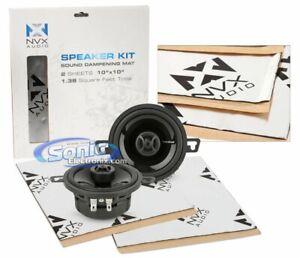 "Rockford Fosgate P132 3.5"" 2 Way Coaxial Speaker w/ NVX Sound Dampening Bundle"