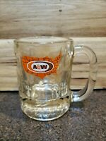 VTG A&W Root Beer United States Map Logo Dimples, Heavy Glass Mug( EUC)