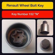 ORIGINAL RENAULT écrou verrouillage ROUE / Clé 152 N