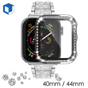 For Apple Watch Series 6 5 4 Clear Full Body Snap Hard Case w/ Screen 40mm 44mm