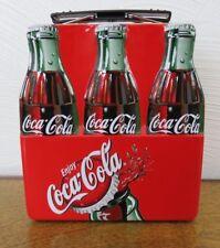 "Coca Cola Mini Metal Box 5 1/2"" x 6"" Tin Container, Lunchbox"