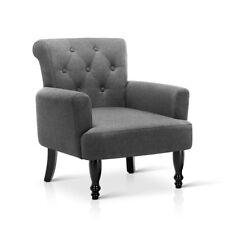 Artiss Lorraine Wingback Armchair Tub Lounge Wing Accent Sofa Fabric Grey
