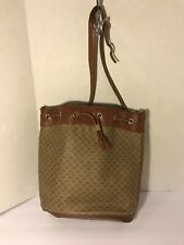 Vintage Gucci Brown Leather Drawstring Bucket Bag 001-115-4739 Authentic $800