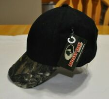MOSSY OAK CAMO Camouflage Black Hat Baseball Ball Cap NWT Adjustable