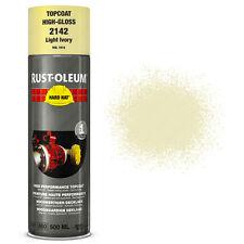 x 15 INDUSTRIEL Rust-Oleum ivoire clair peinture en aérosol solide CHAPEAU 500ml