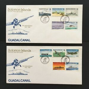 MBC81) Solomon Islands 1992 Guadalcanal FDC (2 Covers)