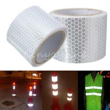 3m Silver White Reflective Safety Warning Conspicuity Tape Film Sticker Strip