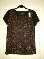 Ann Taylor Loft T-Shirt Top  Animal Cheetah Leopard Print Sz SMALL NWT