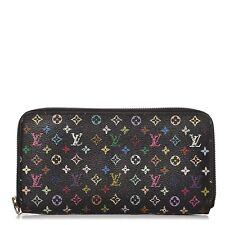 LOUIS VUITTON Multicolor Zippy Wallet Noir Black 251958