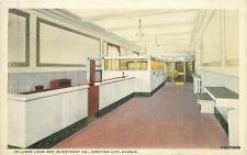 1920s Junction City Kansas Jellison Loan Investment Interior Teich postcard 5925