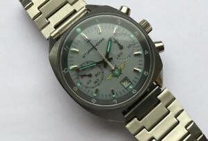 USSR rare chronograph watch Poljot 3133 shturmanskie 31659 green