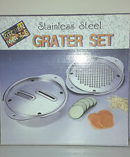 Stainless Steel Grater Set. Ideal for Cucumber, Carrots or Parmesan Cheese  729