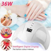 Secador de uñas Luz de uñas UV LED Gel Smart Lámpara de uñas de secado rápido