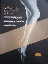 1944 Gotham Gold Stripe Mesh Womens Hosiery Legs Original Color Fashion Ad
