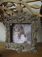 Vintage Style Hanging Photo Frame - Christmas - Gold