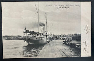 1906 Uganda British EAP RPPC Postcard Cover To Sunderland England Port Florence