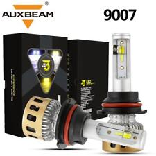 AUXBEAM 9007 HB5 LED Headlight Conversion Bulb Kits High Low Beam Yellow White