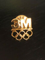 Vintage Collectible 3M Olympics Rings Colorful Metal Pinback Lapel Pin Hat Pin
