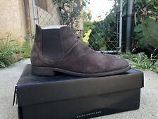 Zara Dark Brown Faux Leather Suede Creased Chelsea Boot Like All Saint Varavtos