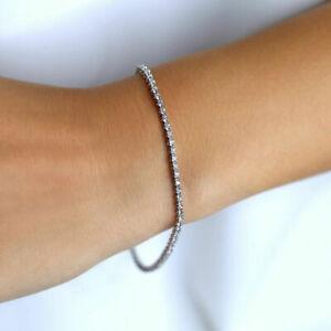 Pure Premium Round Diamond 1.00 Carat Tennis Bracelet 9K White Gold
