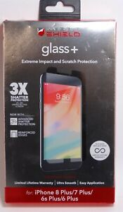 ZAGG - InvisibleShield Glass+ Screen Protector for iPhone 8 Plus/7 Plus/6s Plus