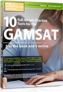 10 Full-length GAMSAT Practice Tests, Best Mock Exams for 2021-2022
