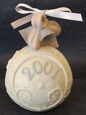 "Lladro ~ 2001~ 3½"" Ornament Ball ~ #6717 ~ White Bisque Porcelain"