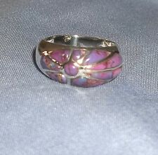 Sterling Silver Purple Turquoise Sunrise Ring NEW
