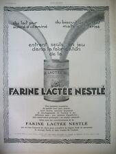 PUBLICITE DE PRESSE NESTLE DU LAIT PUR SUCRE VITAMINE FROMENT MALT AD 1926